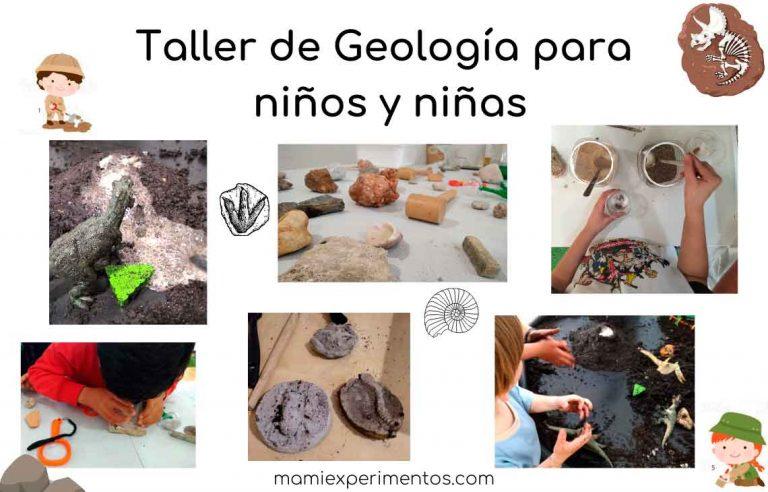 Taller de geología para niños y niñas