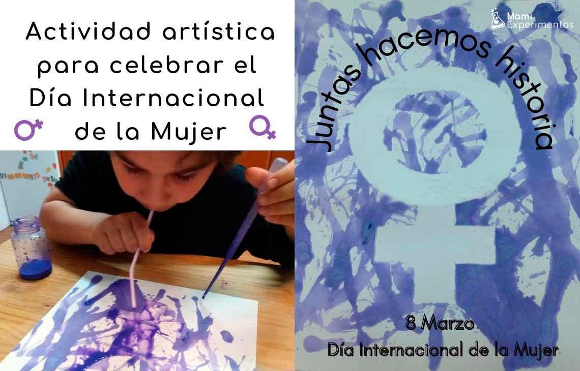 Actividad artística para celebrar el día de la mujer