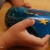 actividad sensorial. Bote sensorial del océano