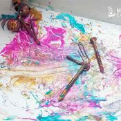 Actividad sensorial crear arte con imanes