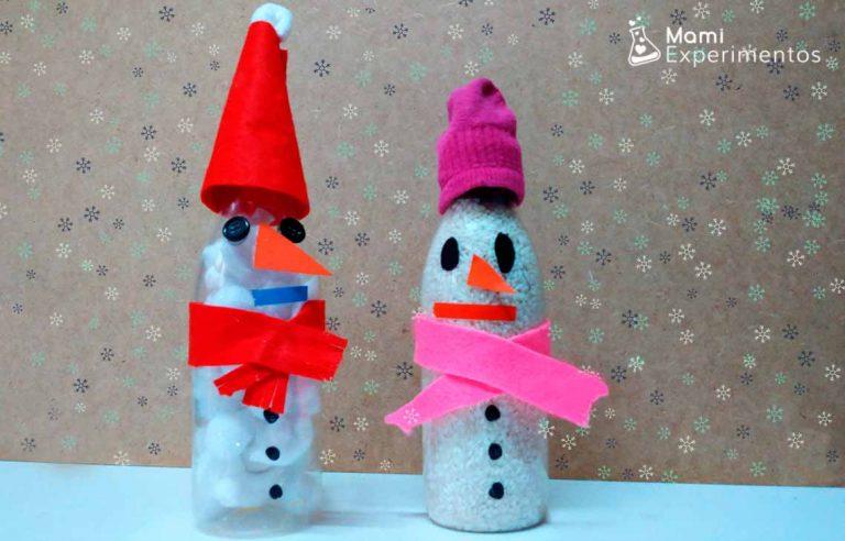 Botellas sensoriales de muñecos de nieve