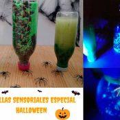 Actividad sensorial botellas sensoriales especial Halloween