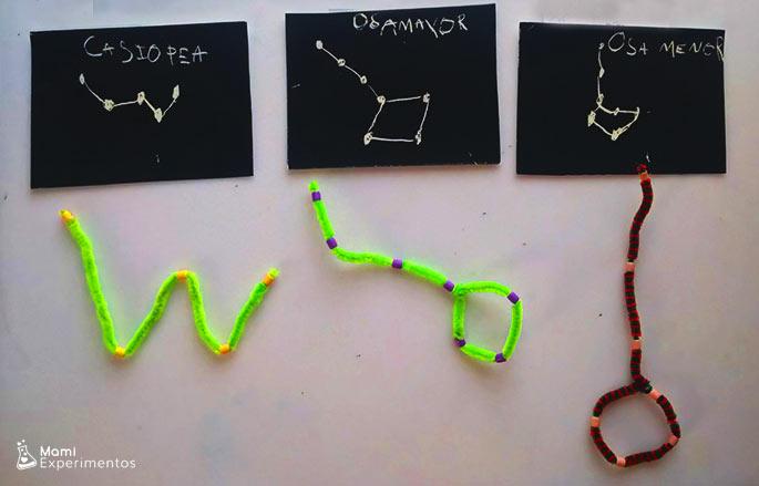 Actividad sensorial como hacer constelaciones con limpiapipas