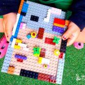 Actividad sensorial el laberinto con piezas lego