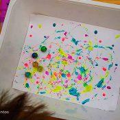 Pintar con canicas