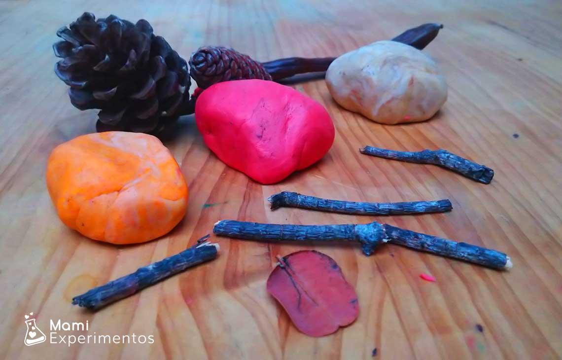 Plastilina casera perfumada de otoño