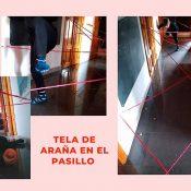 Como crear una tela de araña en el pasillo