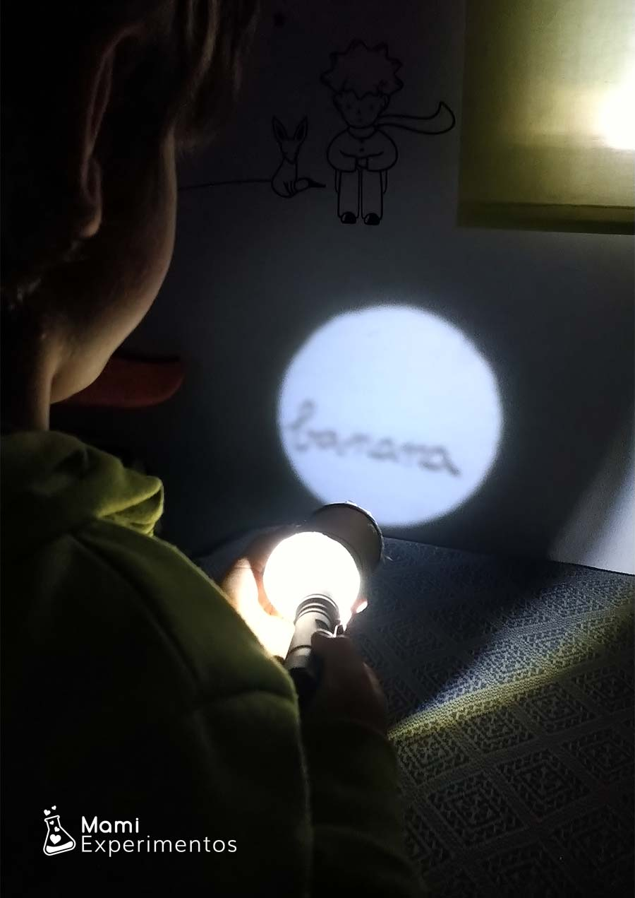Aprender las frutas en inglés con proyector casero