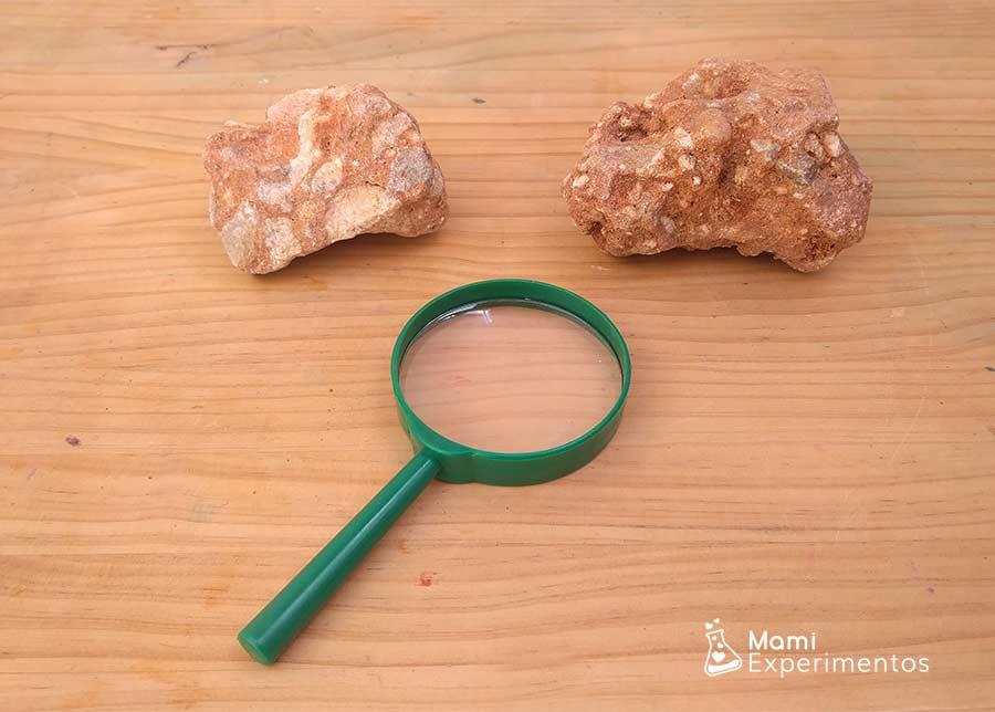 Aprender sobre sorcas sedimentarias con la lupa