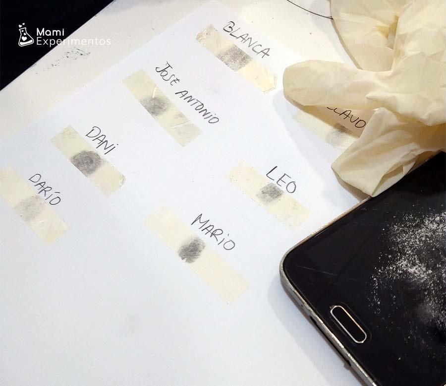 Aprender a capturar huellas dactilares taller de agentes secretos