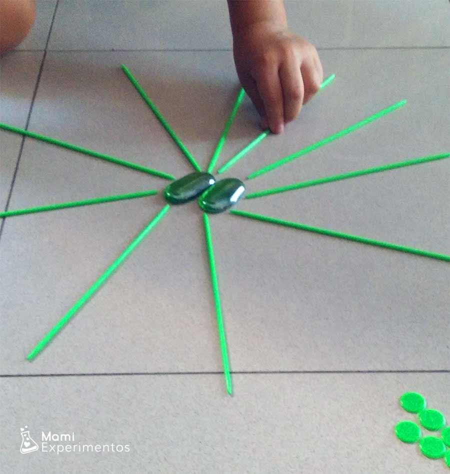arte con mandalas monocromático color verde