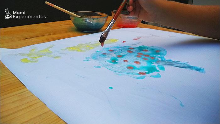 Arte con pintura de gelatina