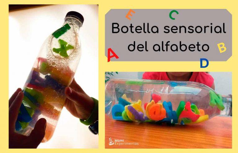 Botella sensorial del alfabeto
