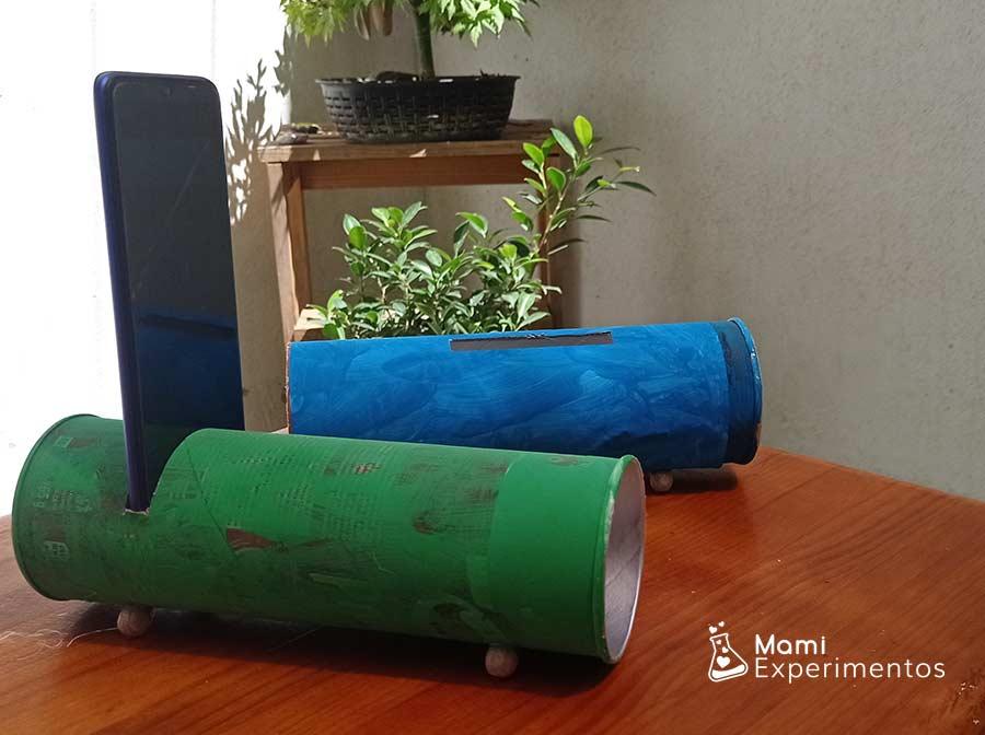 Ciencida del sonido creando amplificadores caseros hechos con botes pringles