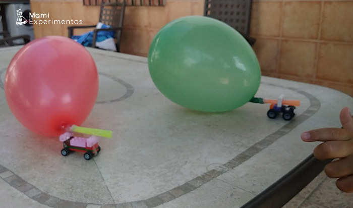 coches movidos por globos