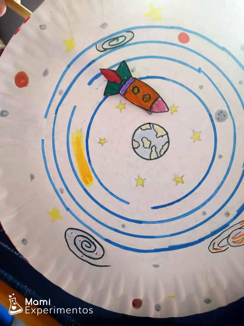 Cohete por el sistema solar con imanes