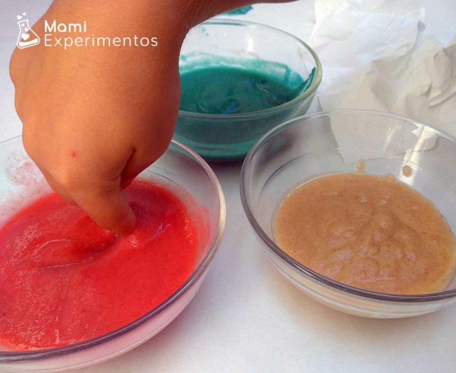 Colorante alimenticio para pintura casera de manzana