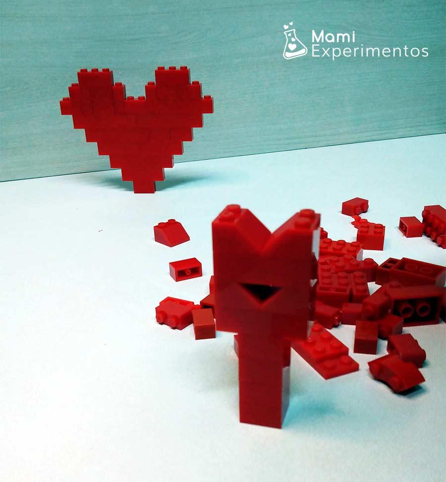 Construcciones de corazón con lego