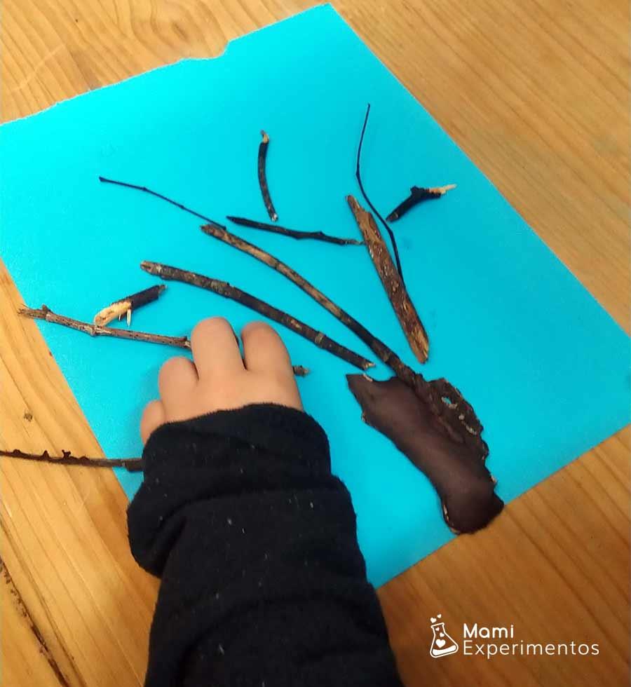 Creando árbol de invierno artístico