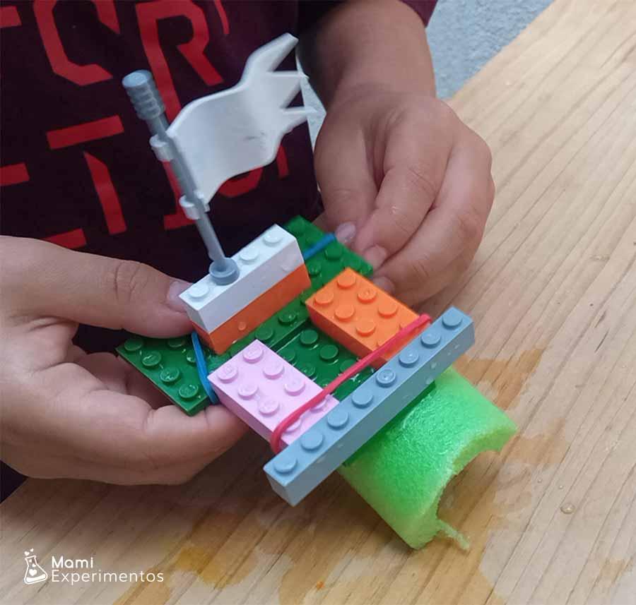 Crear barco que flote con piezas lego