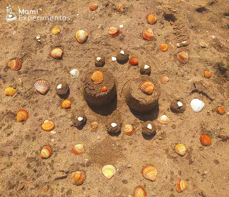 Mandalas con conchas marinas
