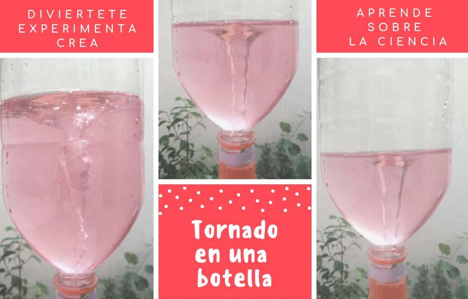 Como crear un tornado en una botella
