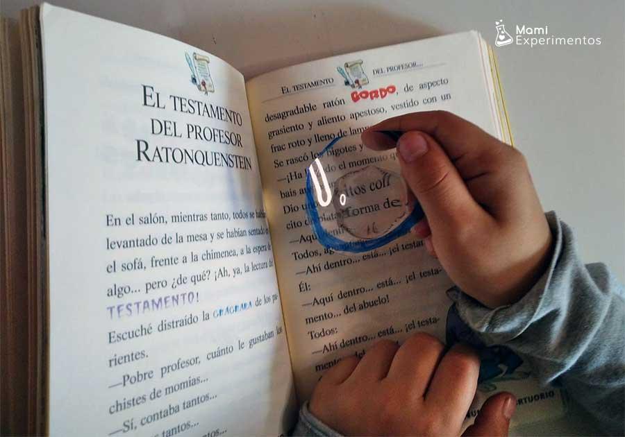 Crear una lupa casera para ver letras del libro