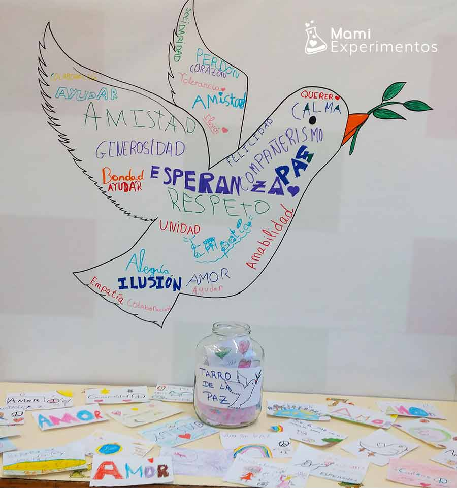 Celebrando día de la paz y la no-violencia