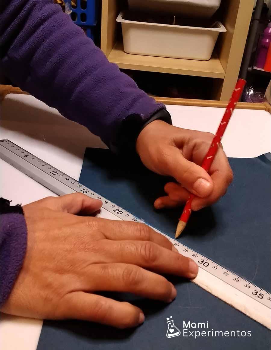 Dibujando circunferencia para molinillo de la paz