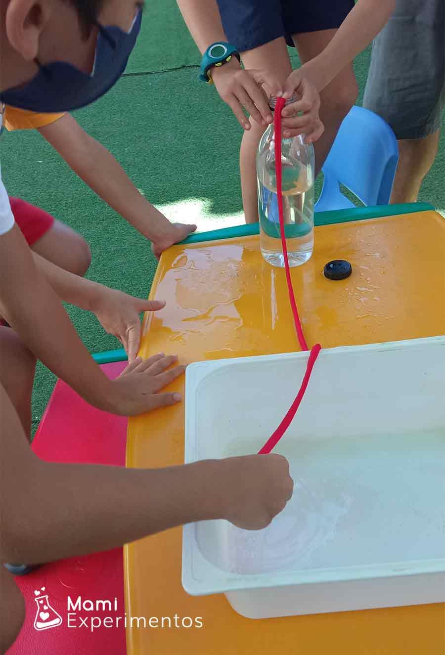 El agua que viaja por la cuerda taller de verano