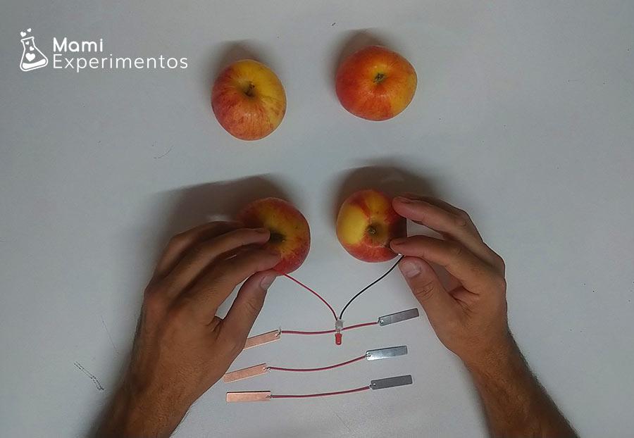 Energía eléctrica con manzanas