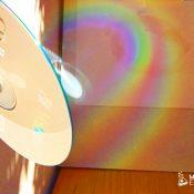 crear un arco iris con un CD