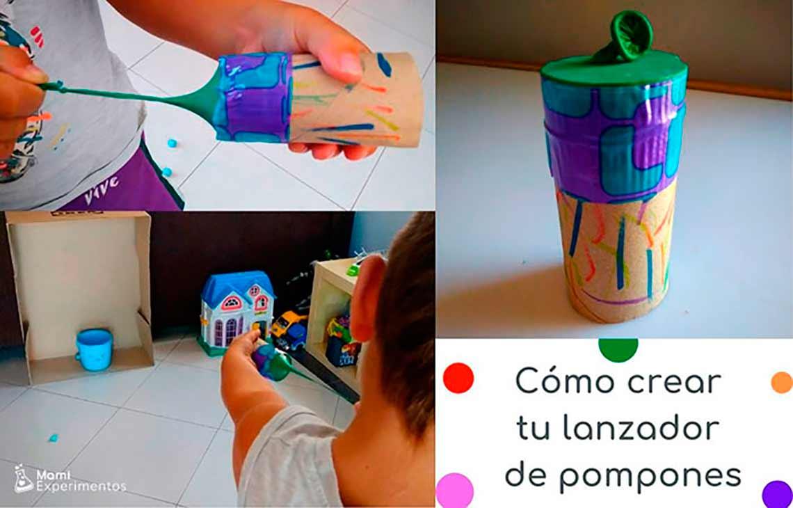 crear un lanzador de pompones