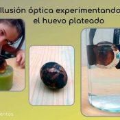 Experimento de ilusión óptica el huevo plateado