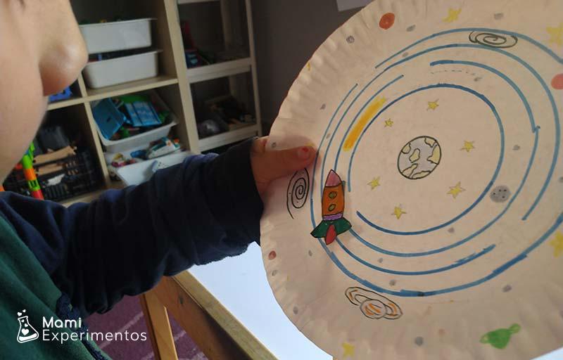 Experimento con imanes el sistema solar y el cohete