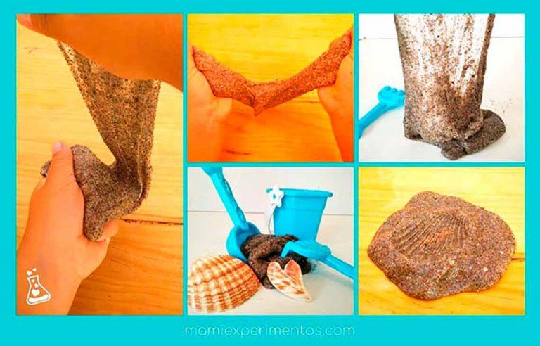 Hacer un slime con arena de playa real