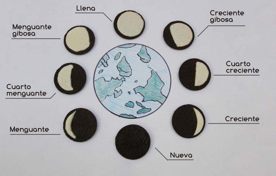 Aprender las fases de la luna de una forma divertida