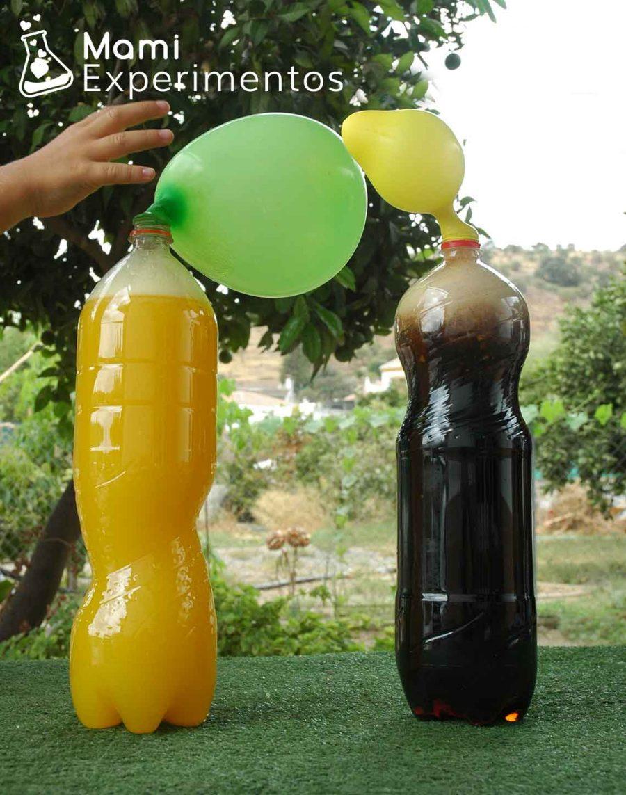 Inflando globos con petazetas