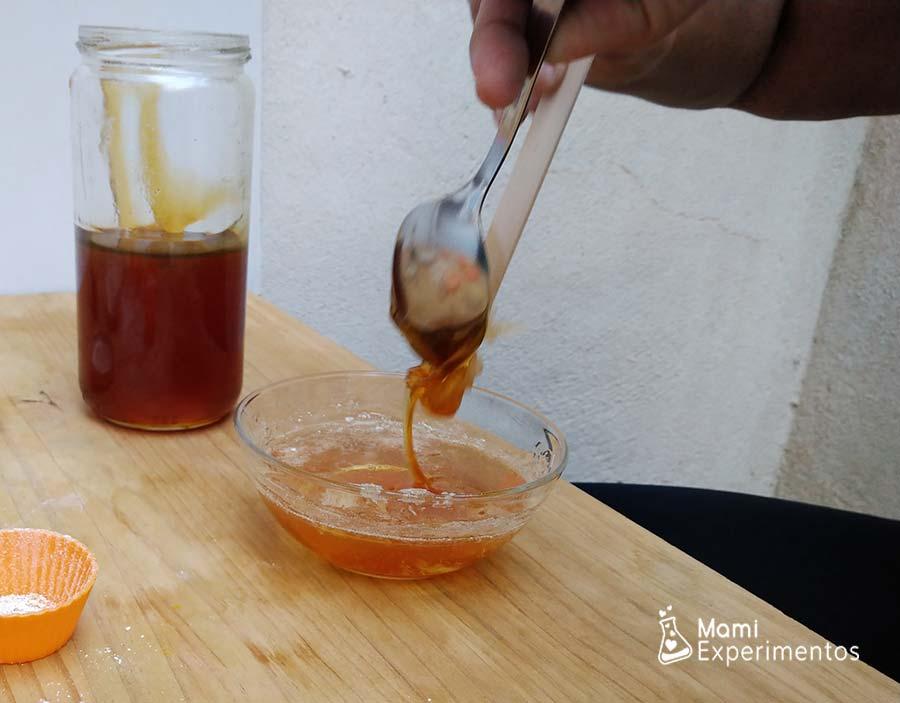 Jabón de glicerina con miel