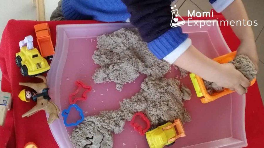Descubriendo texturas con la arena mágica