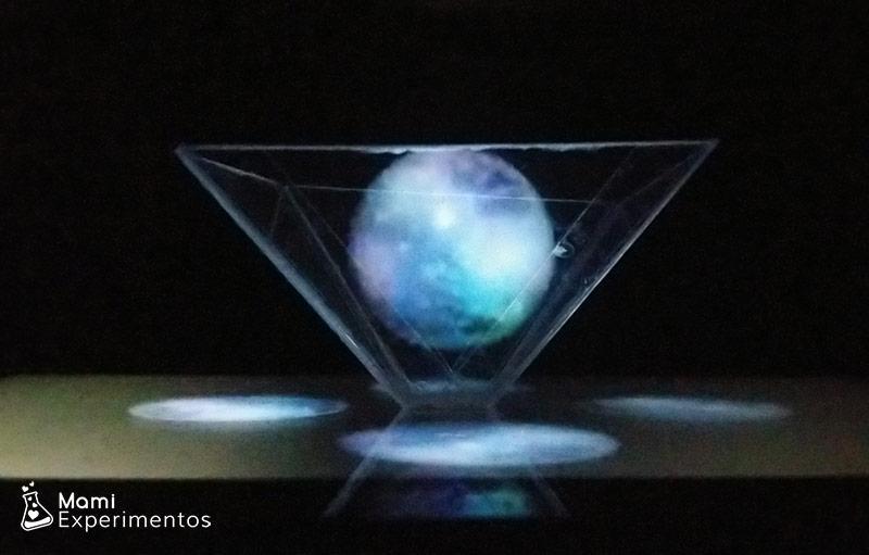 Los planetas en holograma casero