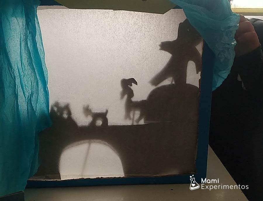 Marionetas en teatro de sombras especial día del libro