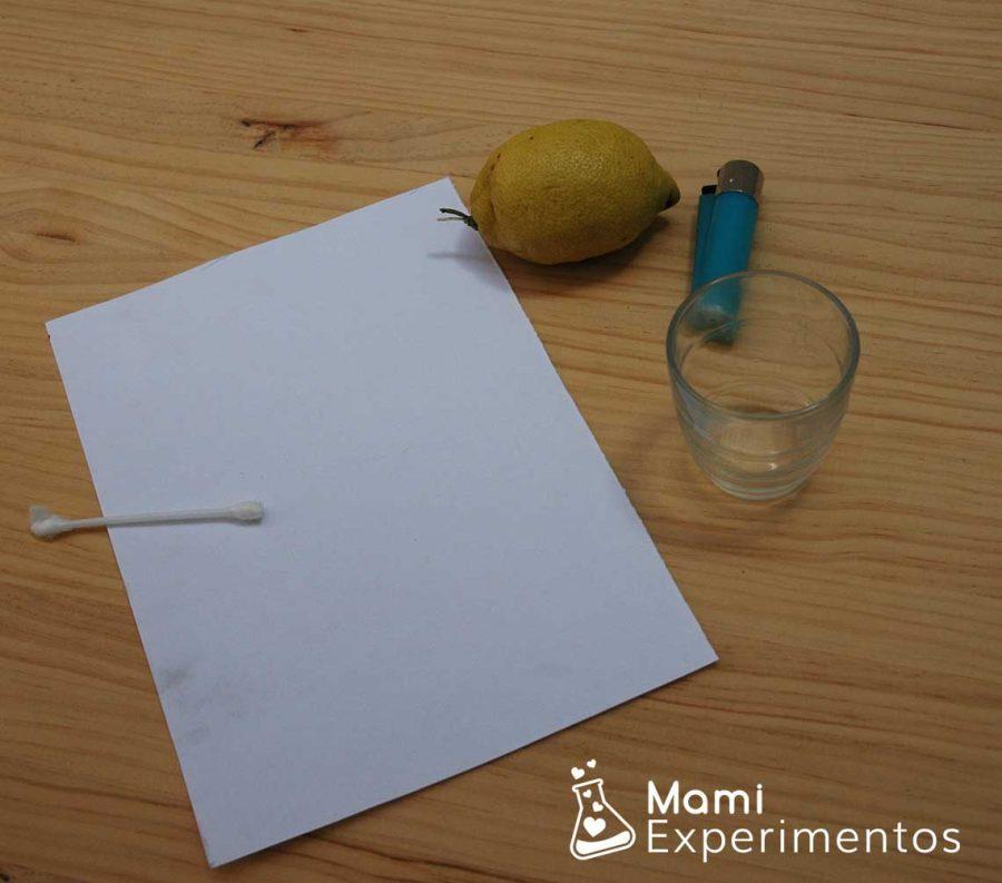Materiales para escribir con tinta invisible