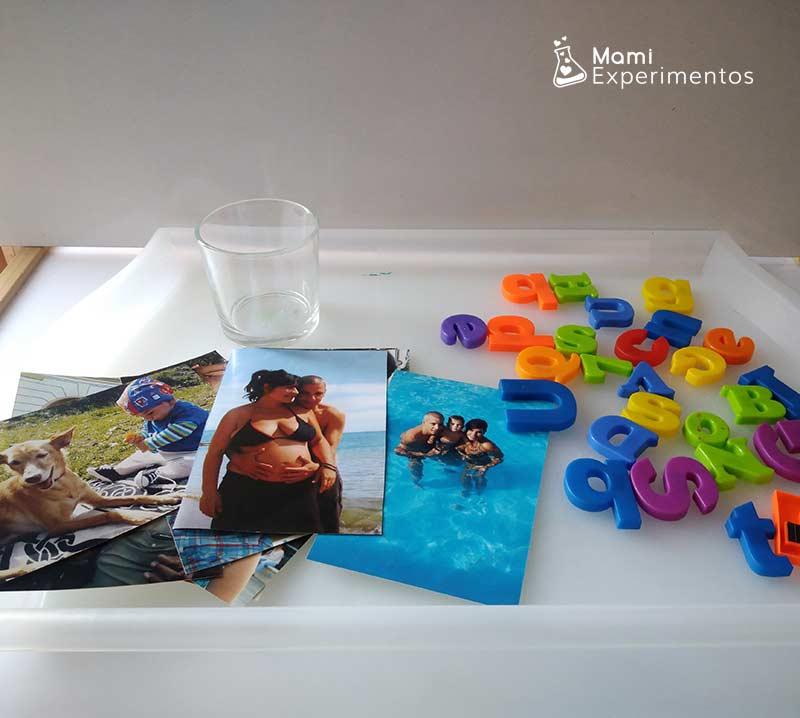 Materiales necesarios para trabajar el día de las familias con la mesa de luz