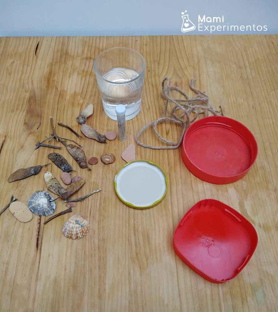 Materiales necesarios para adornos navideños con agua