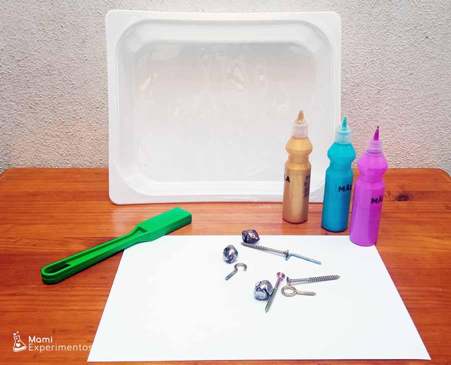 Materiales necesarios para crear arte con imanes