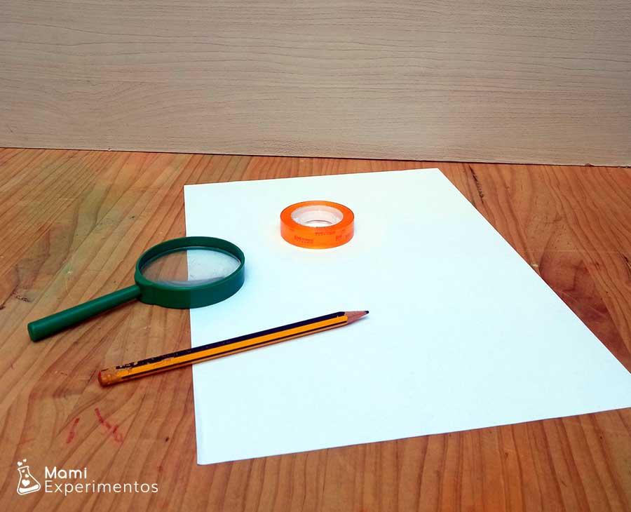 Materiales necesarios para crear huellas dactilares