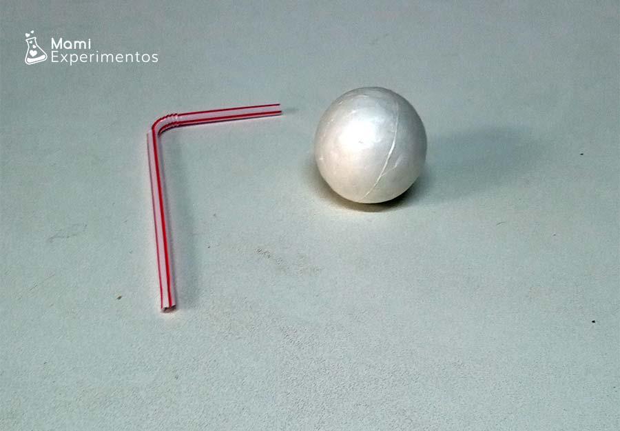 Materiales necesarios para experimento de la pelota voladora