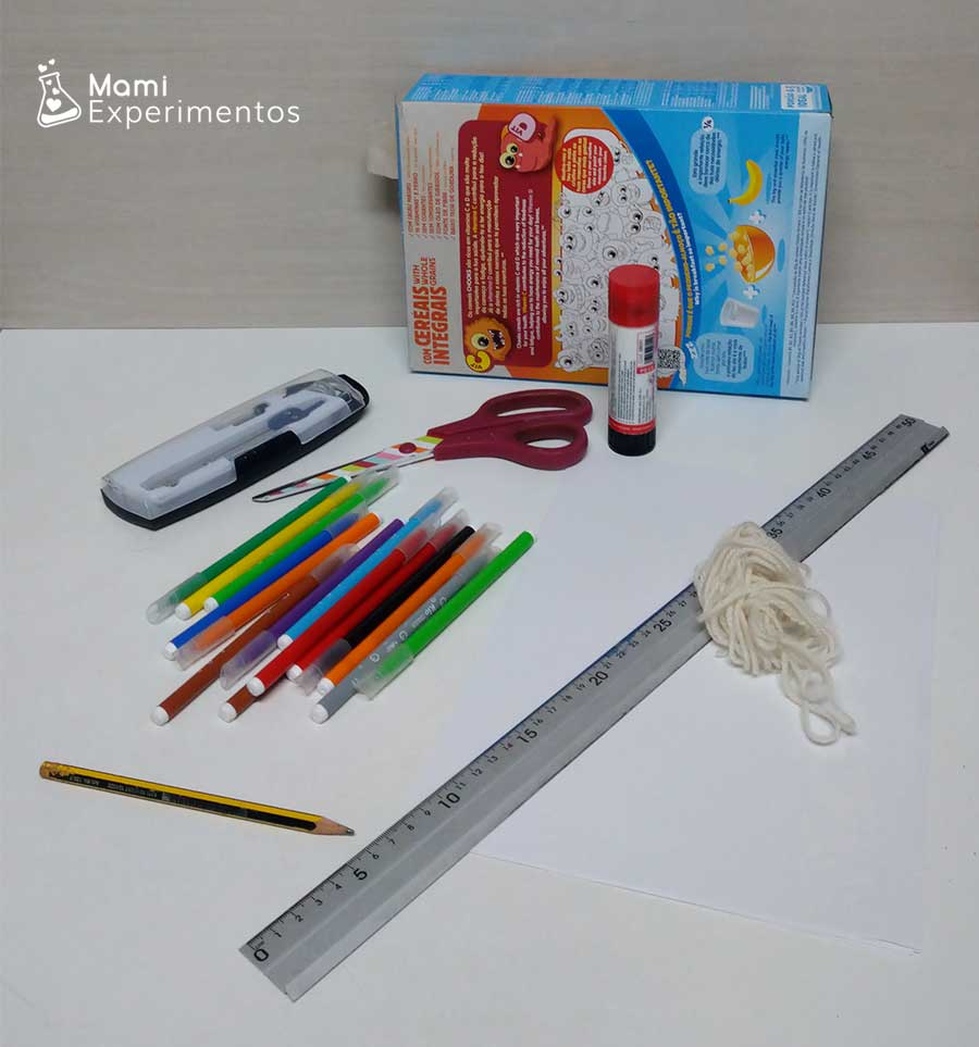 Materiales necesarios para hacer spiners del día de Andalucía