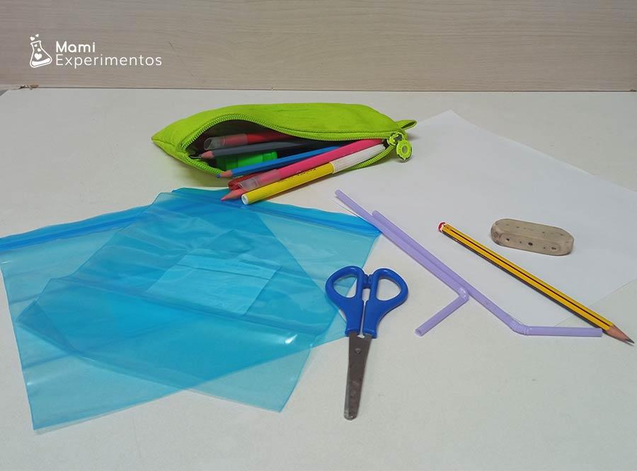 Materiales necesarios para preparar maqueta sobre cómo funcionan nuestros pulmones
